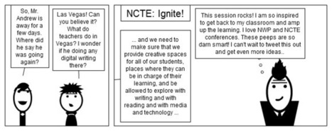 Digital Writing Month Comic: At the NWP/NCTE Conference | #digiwrimo: Digital Writing Month | Scoop.it