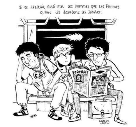 Dans le métro, les hommes occupent plus d'espace que les femmes   éco-féminisme sociale   Scoop.it