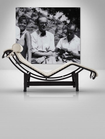#197 ❘ Charlotte PERRIAND ❘ Chaise longue LC4, crée en 1928 par Charlotte Perriand, Le Corbusier et Pierre Jeanneret, rééditée chez Cassina.   Le Corbusier   Scoop.it