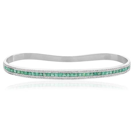 Channel Set Emerald 18k Gold Palm Bracelet | Gemstone Jewelry | GemcoDesigns | Pave Diamond Bracelets | Diamond Jewelry | GemcoDesigns | Scoop.it