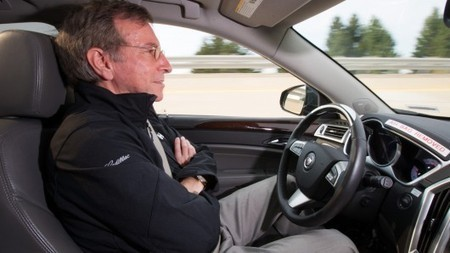 "Cadillac road testing semi-autonomous ""Super Cruise"" technology 