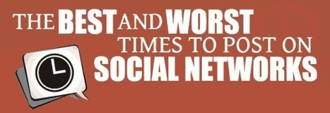 Best and Worst Times to Share Your Social Media Updates [Infographic] | New Developments in Social Media | Scoop.it
