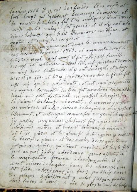 Année 1766 : Un terrible hiver à Haux (64) : Votre Généalogie | GenealoNet | Scoop.it