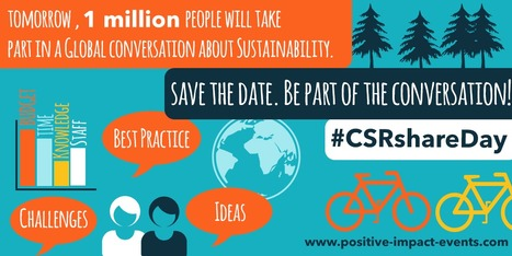 Save the date - tomorrow is #CSRshareDay!<br/>Calling all event sustainability champions to the 24 hr sustainable event twitterverse! | Sustainable Events News | Scoop.it
