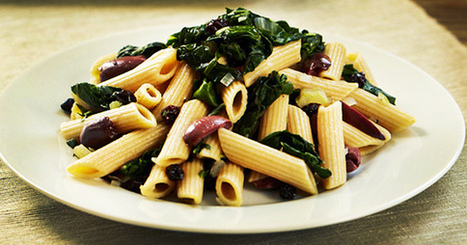 Penne with Swiss Chard, Olives, and Currants | My Vegan recipes | Scoop.it