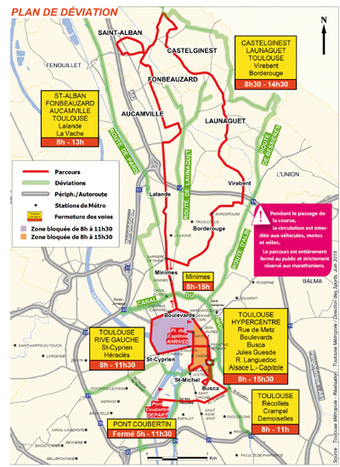 Informations pratiques sur le marathon 2015 | Toulouse La Ville Rose | Scoop.it