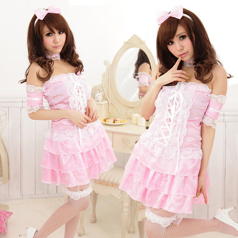 Sexy Off The Shoulder Maid Uniform Dress with Lace up   Favorite Costumes   Scoop.it