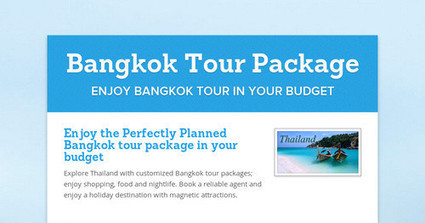 Enjoy the Perfectly Planned Bangkok tour package in your budget | Malaysia Travel Agency | Scoop.it