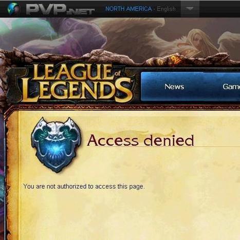NICE SHOT, CUPCAKE.: League of Legends / Support / Access Denied Forum Bug Fix | Nice Shot, Cupcake. | Scoop.it