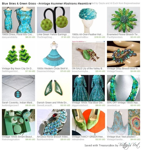 Blue Skies & Green Grass - #vintage #summer #fashions #teamlove  by Gayla and Al Esch on Etsy | serendipity treasures | Scoop.it