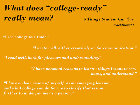 What Does College-Ready Really Mean, Anyway? | Higher Ed and Information Technology | Scoop.it
