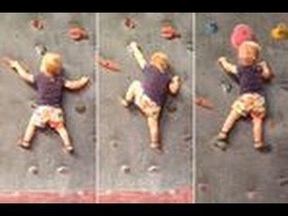 19-Month-Old Daughter Rock Climbing Without Safety Harness - YouTube | Educatie en Pedagogiek | Scoop.it