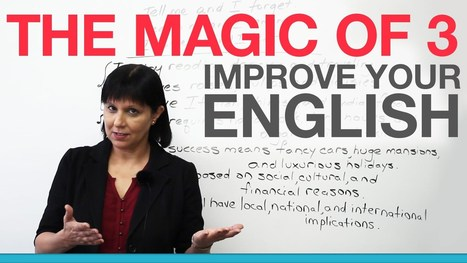 """Improve your English with the """"Magic of 3″ 