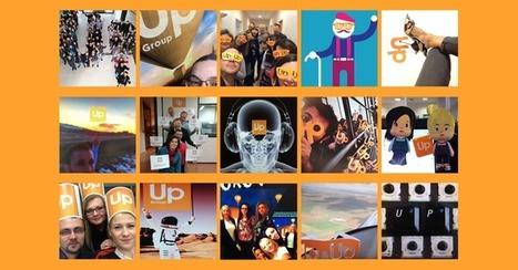 Up Selfie Wall : Une opération de communication interne réussie   Culture et dépendance   Scoop.it