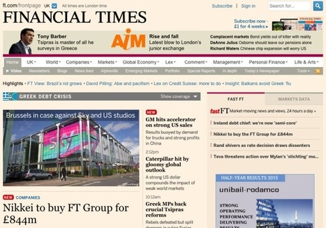 Japan's Nikkei Buys The Financial Times Group From Pearson For $1.3B | Multimedia Journalism | Scoop.it