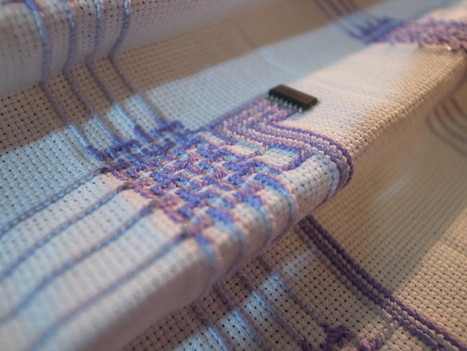 Beautiful Embroidered Circuits | Daily Magazine | Scoop.it