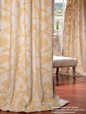Embroidered Cotton Crewel Curtains | window curtains | Scoop.it