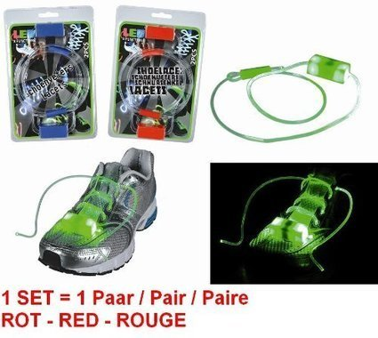 !!!   LEUCHTSCHNÜRSENKEL LED SCHNÜRSENKEL ROT 1 Paar | New Balance Online Shop | Scoop.it
