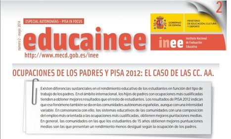 PISA 2012: Euskadi, junto con Navarra y Castilla y León CCAA con menor desigualdad por ocupación de los padres #INEE | Pedalogica: educación y TIC | Scoop.it