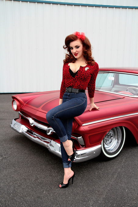 Seeing Red With Erin Micklow And A  '57 Ranchero | Rockabilly | Scoop.it