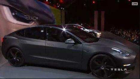 Cosa ha detto Elon Musk alla presentazione della Tesla Model 3 | green car | Scoop.it