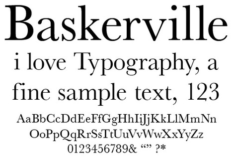 Want to Be Taken Seriously? Use the Font Baskerville | print media | Scoop.it