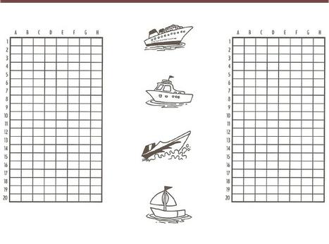 Jeu la bataille navale la page des enfants - Grille de bataille navale a imprimer ...