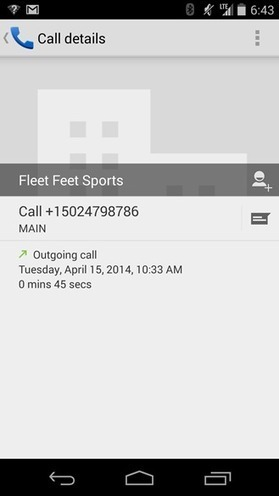 Google Accidentally Tweets Screenshot Of Updated Dialer App With Blue Action Bar | Android Discussions | Scoop.it