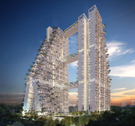 Moshe Safdie designs fractal-based sky habitat for Singapore | The Architecture of the City | Scoop.it
