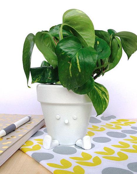 DIY quirky sitting flower pot | Récup Création | Scoop.it