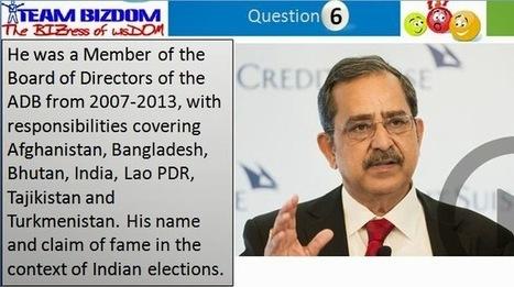 Indian Political Quiz Part 2 - Bizdom | news | Scoop.it
