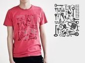 Red mens printed t-shirts crew neck tee | personalized canvas messenger bags and backpack | Scoop.it
