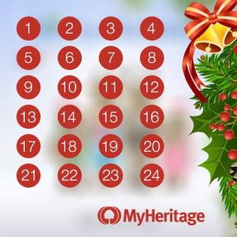 Calendrier de l'Avent de MyHeritage - MyHeritage.fr - Blog francophone | Rhit Genealogie | Scoop.it