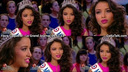 Photos : Flora Coquerel Miss France 2014 sexy dans Le Grand Journal (09/12/13) | Radio Planète-Eléa | Scoop.it