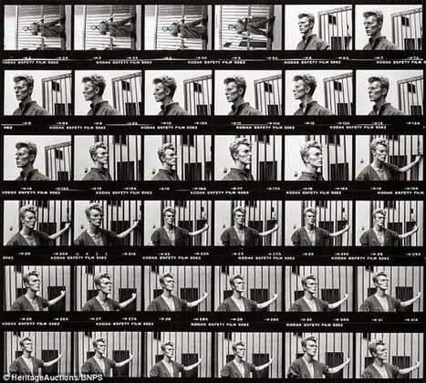 David Bowie contact sheet expected to fetch  £20,000 at auction | B-B-B-Bowie | Scoop.it