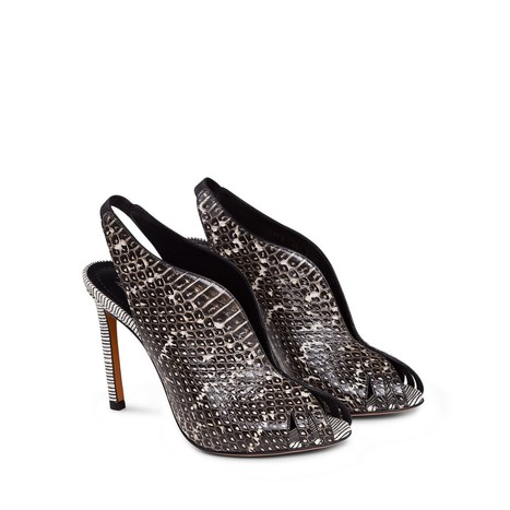 Santoni: Black Sexy Elaphe Python Sandals | Le Marche & Fashion | Scoop.it