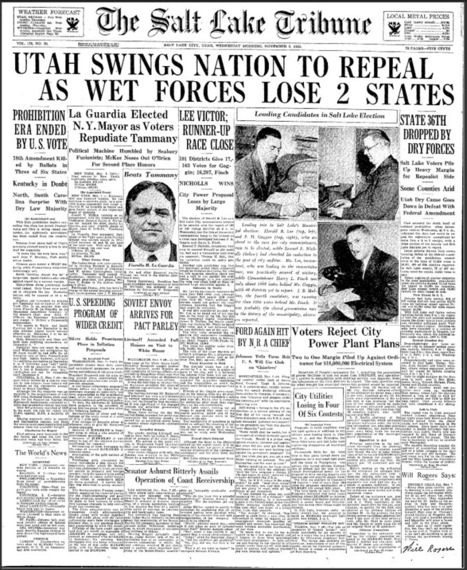 Prohibition Articles | Newspapers & Records | 18th Amendment 5b | Scoop.it