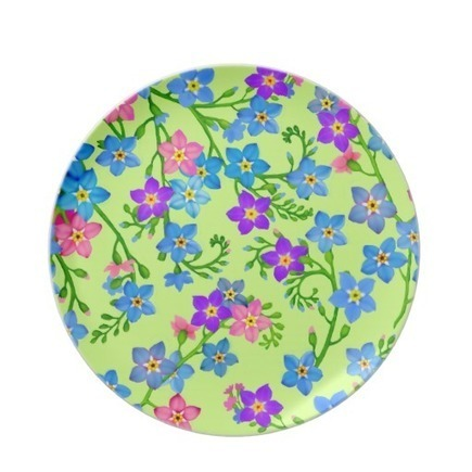 Forget Me Nots Garden Flowers Plate from Zazzle.com | Dinner Plates | Scoop.it
