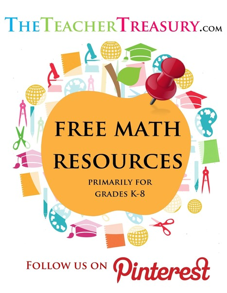FREE Math Resources Primarily for Grades K-8 (Pinterest Board) | Free Online Educational Resources | Scoop.it