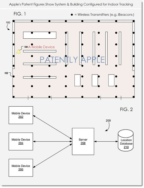 A New Apple iBeacon Indoor Mapping Patent sheds more light on Future Location Services within Buildings - Patently Apple | Indoor LBS | Scoop.it