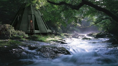 The Nook: A sustainable retreat based on the wigwam - Images | Living Little | Scoop.it