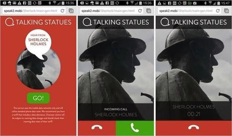 Grace aux téléphones mobiles, les statues de Londres et de Manchester parlent aux passants | L'actu culturelle | Scoop.it