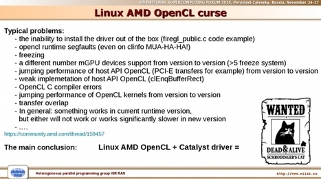 Russian Super-Computing Users Get Tired Of Catalyst, Start Looking At Open-Source AMD - Phoronix | opencl, opengl, webcl, webgl | Scoop.it