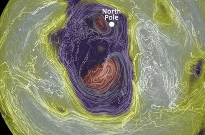 Freak storm pushes North Pole 50 degrees above normal to melting point #climate | Messenger for mother Earth | Scoop.it