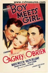 "Rare James Cagney Vintage Movie Poster ""Boy Meets Girl"" 