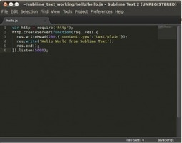 Sublime Text 2 – Installation and use on Ubuntu 10.04 | Node.js | Nodejs-code | Scoop.it