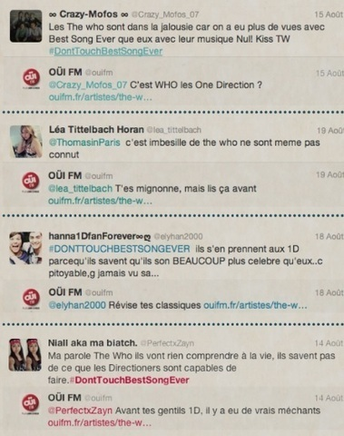 Who's the Who ? : Ouï FM répond aux fans de One Direction | Radioscope | Scoop.it