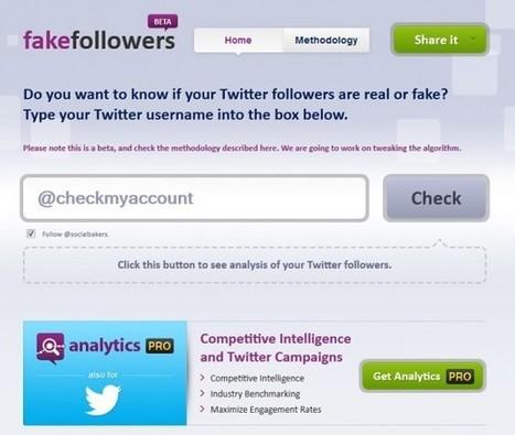 Fake Followers : scannez votre compte Twitter pour connaître le pourcentage de bots qui vous suivent | Quand la communication passe au web | Scoop.it