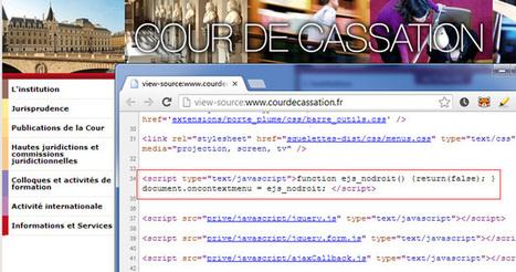 La Cour de cassation interdit le clic droit sur son site | Web 2.0 et société | Scoop.it