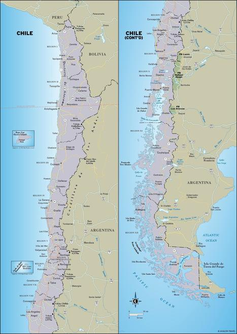 Map of Chile. | Spanish speaking countries; Chile. | Scoop.it